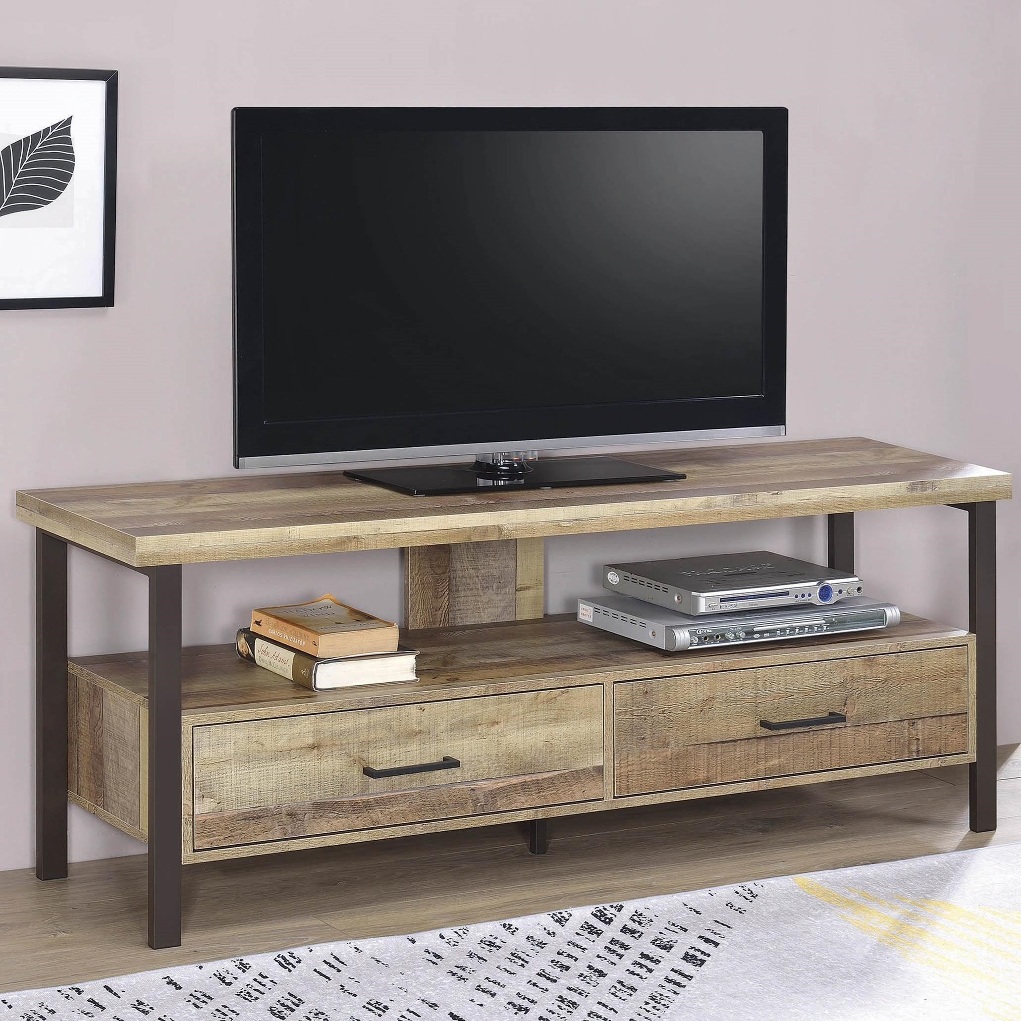 Coaster Tv Stands 721881 Industrial 59 Quot Tv Console Sam
