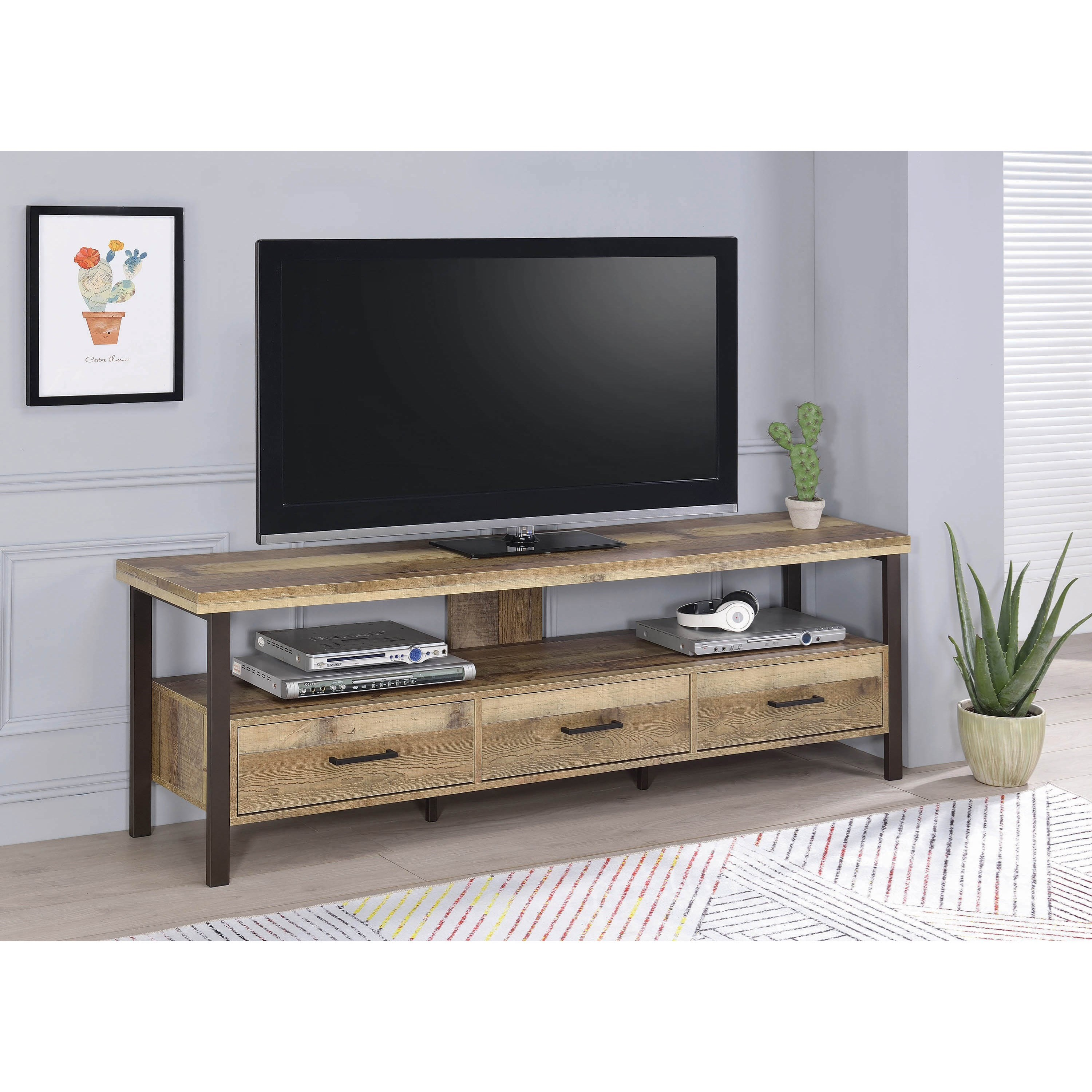 Coaster Tv Stands 721891 Industrial 71 Quot Tv Stand Sam