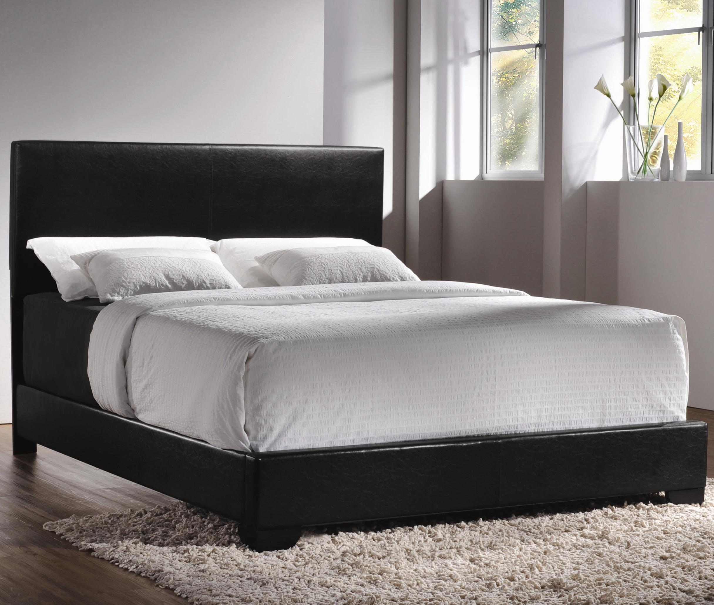 Coaster Upholstered Beds King Upholstered Low-Profile Bed - Item Number: 300260KE