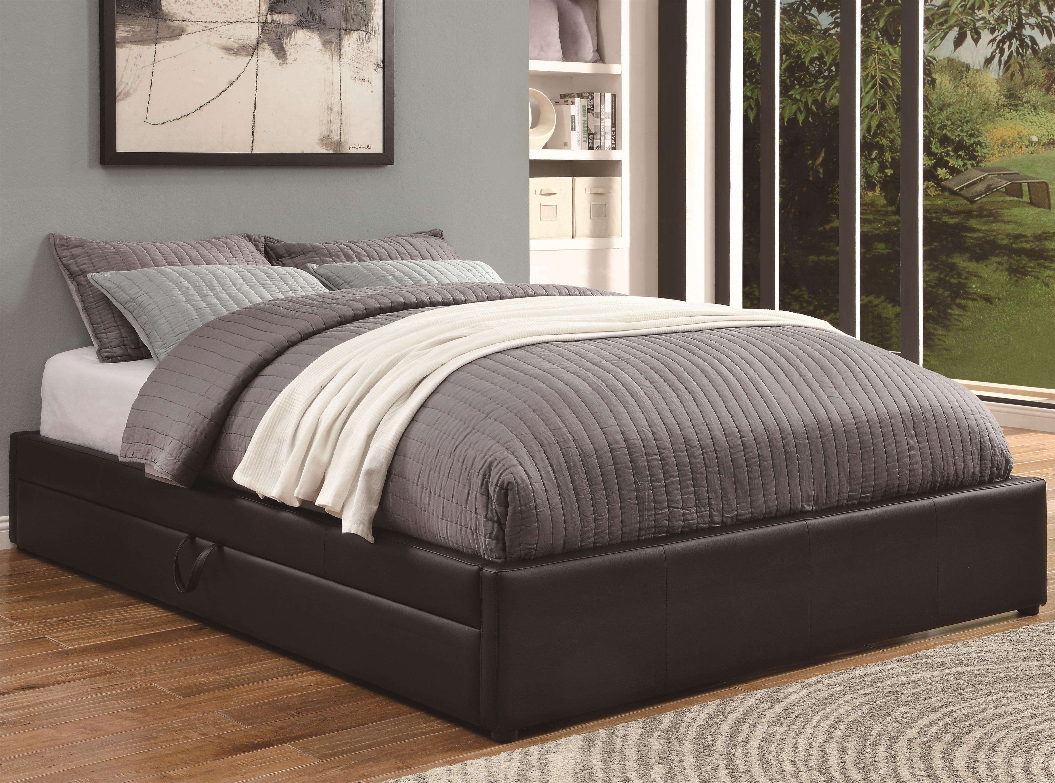 Coaster Upholstered Beds Queen Storage Bed - Item Number: 300386Q