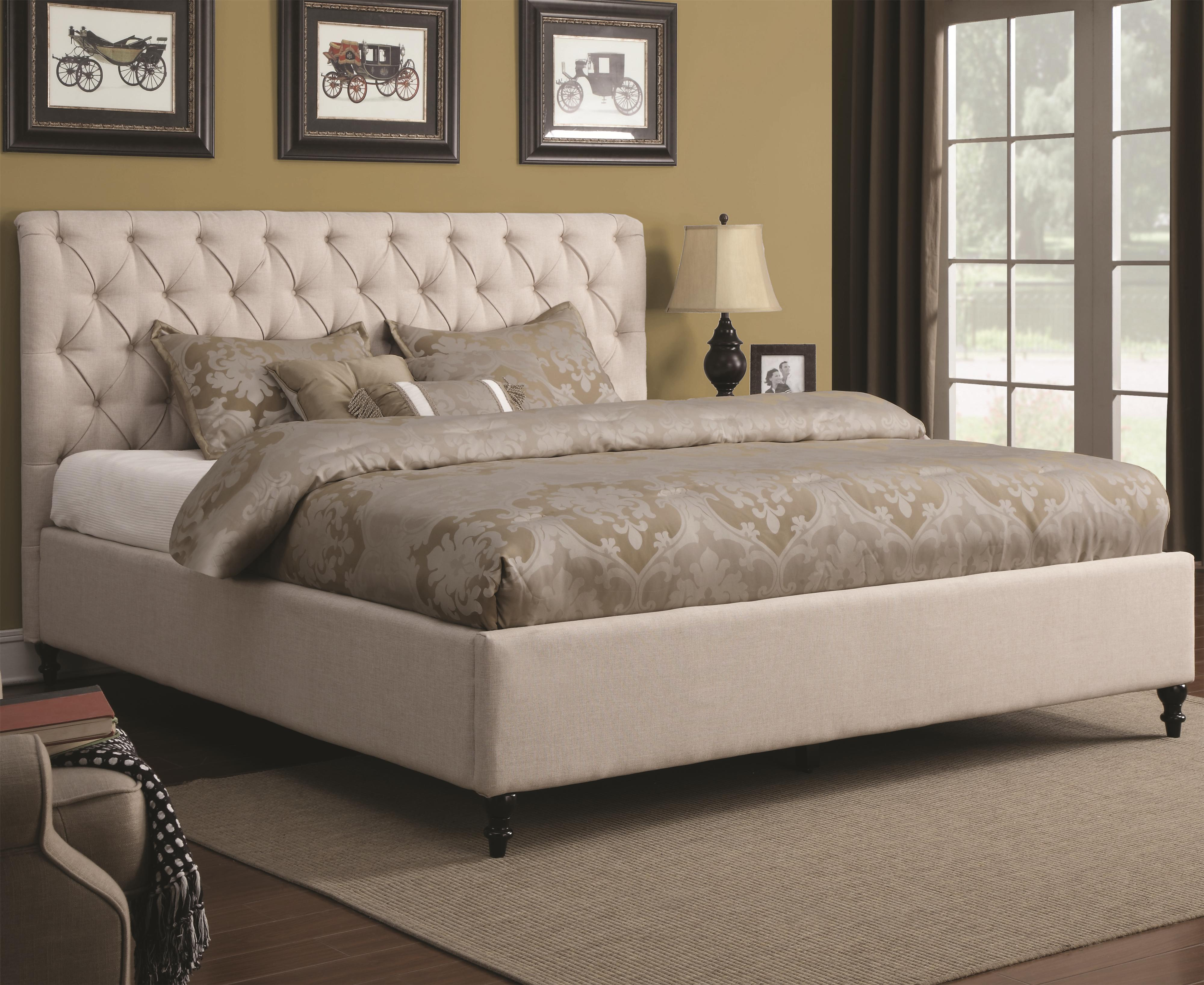 coaster upholstered beds queen upholstered bed item number 300403q - Coaster Bed Frame