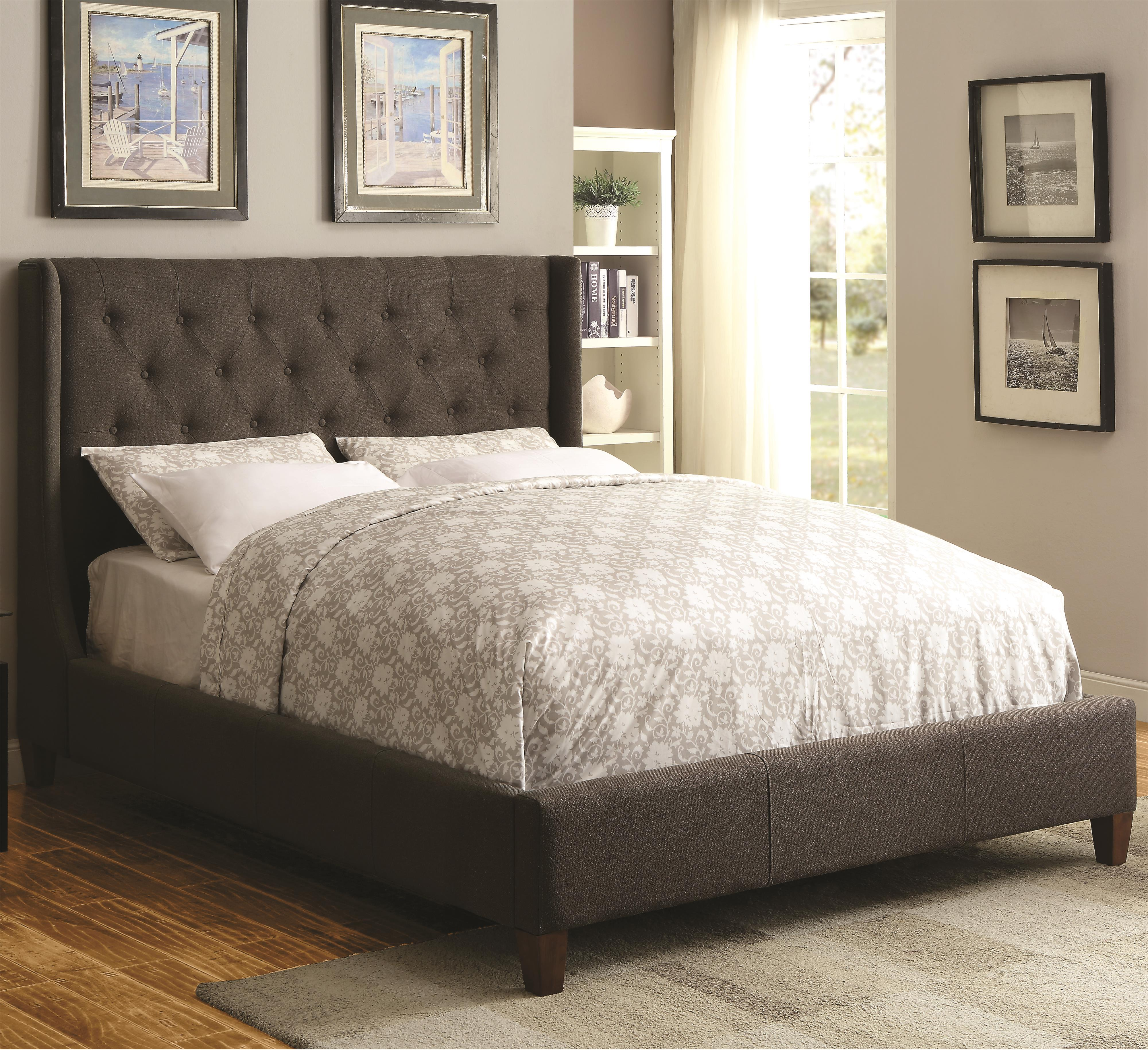 a28077c112b33 Coaster Upholstered Beds Upholstered California King Bed with Tall ...