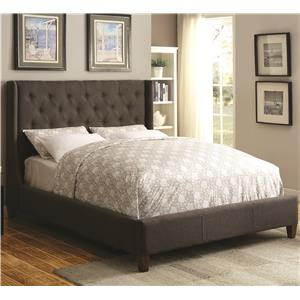 19a02cd241206 Coaster Upholstered Beds Pissarro Wingback Upholstered Queen Bed ...