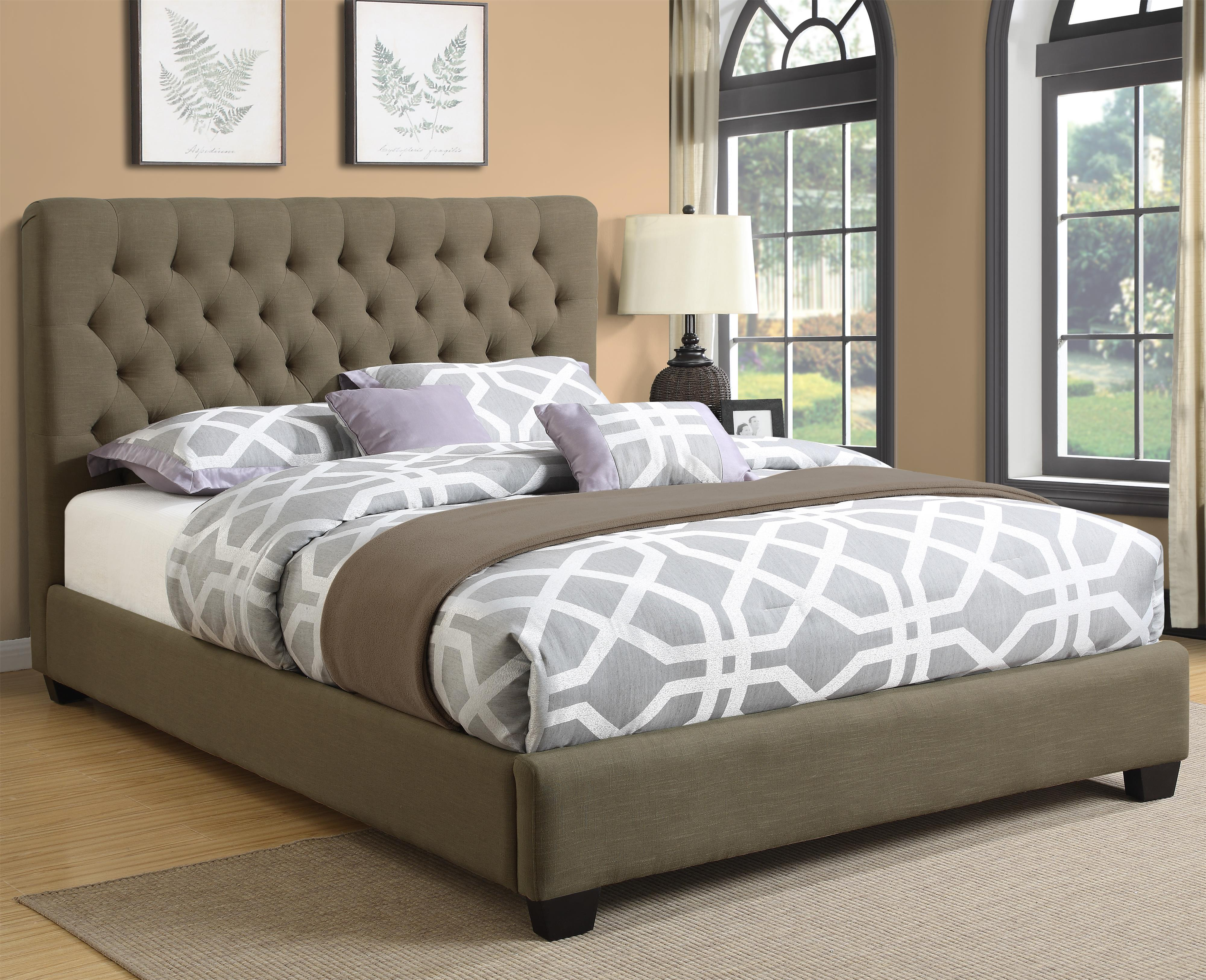Coaster Upholstered Beds Queen Chloe Upholstered Bed - Item Number: 300528Q