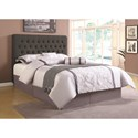 Coaster Upholstered Beds Full Upholstered Headboard with Tufting in Light Color Fabric - Headboard Shown May Not Represent Size Indicated