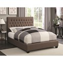 Coaster Upholstered Beds King Chloe Upholstered Bed with Tufted Headboard & Neutral Color Fabric - Bed Shown May Not Represent Size Indicated