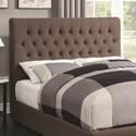 Coaster Upholstered Beds California King Upholstered Headboard with Tufting in Light Color Fabric - Headboard Shown May Not Represent Size Indicated