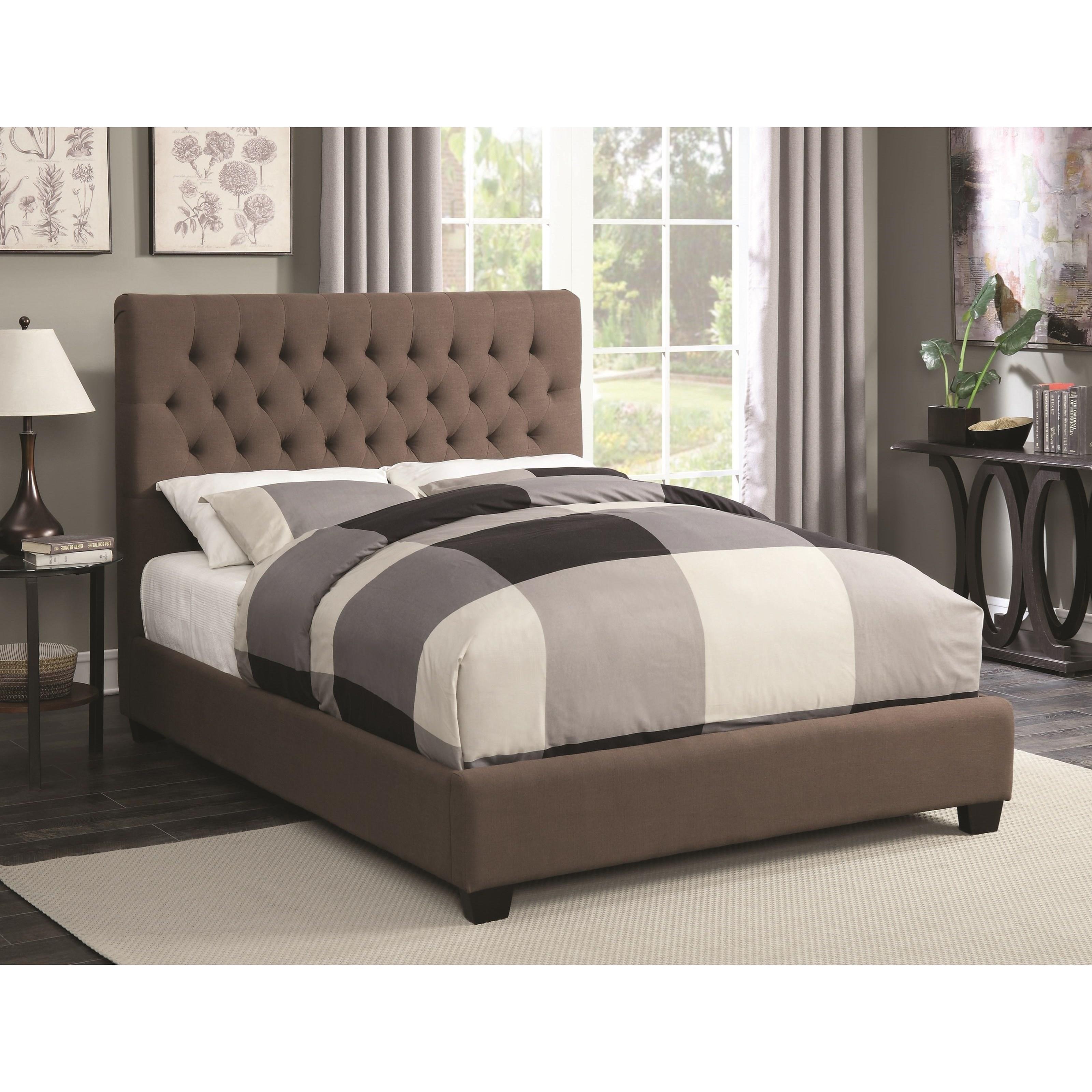 Coaster Upholstered Beds Queen Chloe Upholstered Bed - Item Number: 300530Q