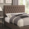 Coaster Upholstered Beds Queen Upholstered Headboard with Tufting in Light Color Fabric - Headboard Shown May Not Represent Size Indicated