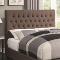 Coaster Upholstered Beds Twin Upholstered Headboard with Tufting in Light Color Fabric - Headboard Shown May Not Represent Size Indicated