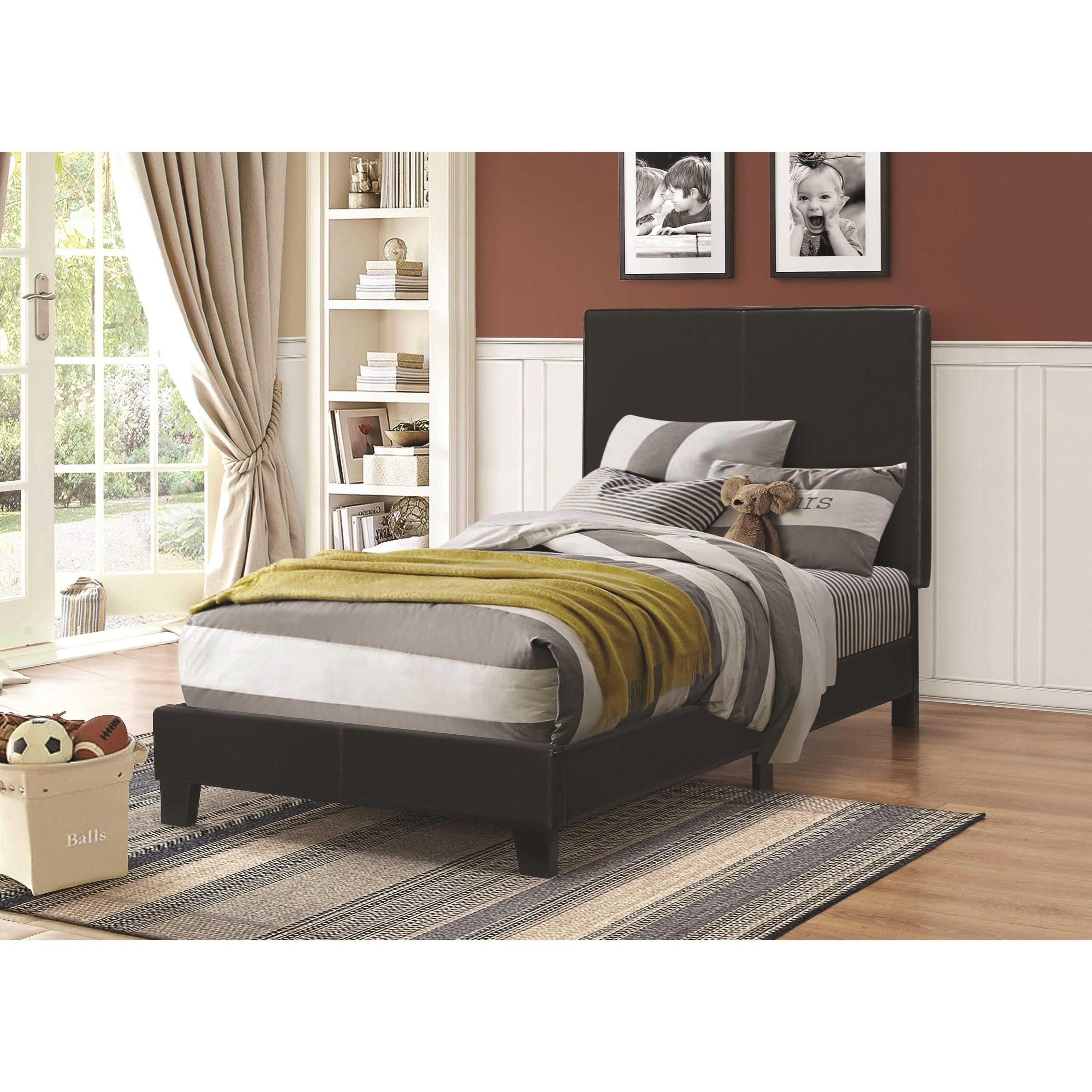 Coaster Upholstered Beds Twin Bed - Item Number: 300558T