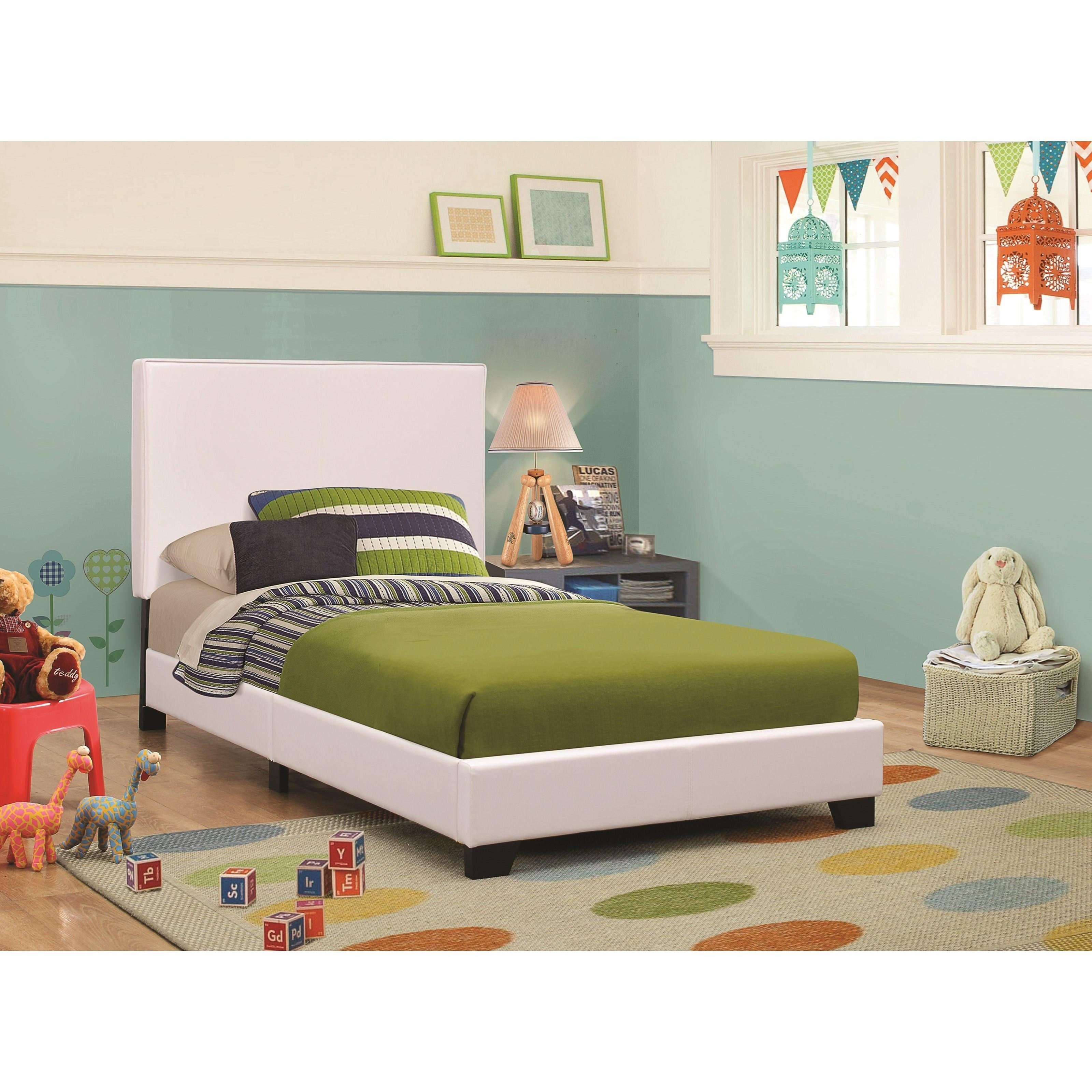 Coaster Upholstered Beds Twin Bed - Item Number: 300559T