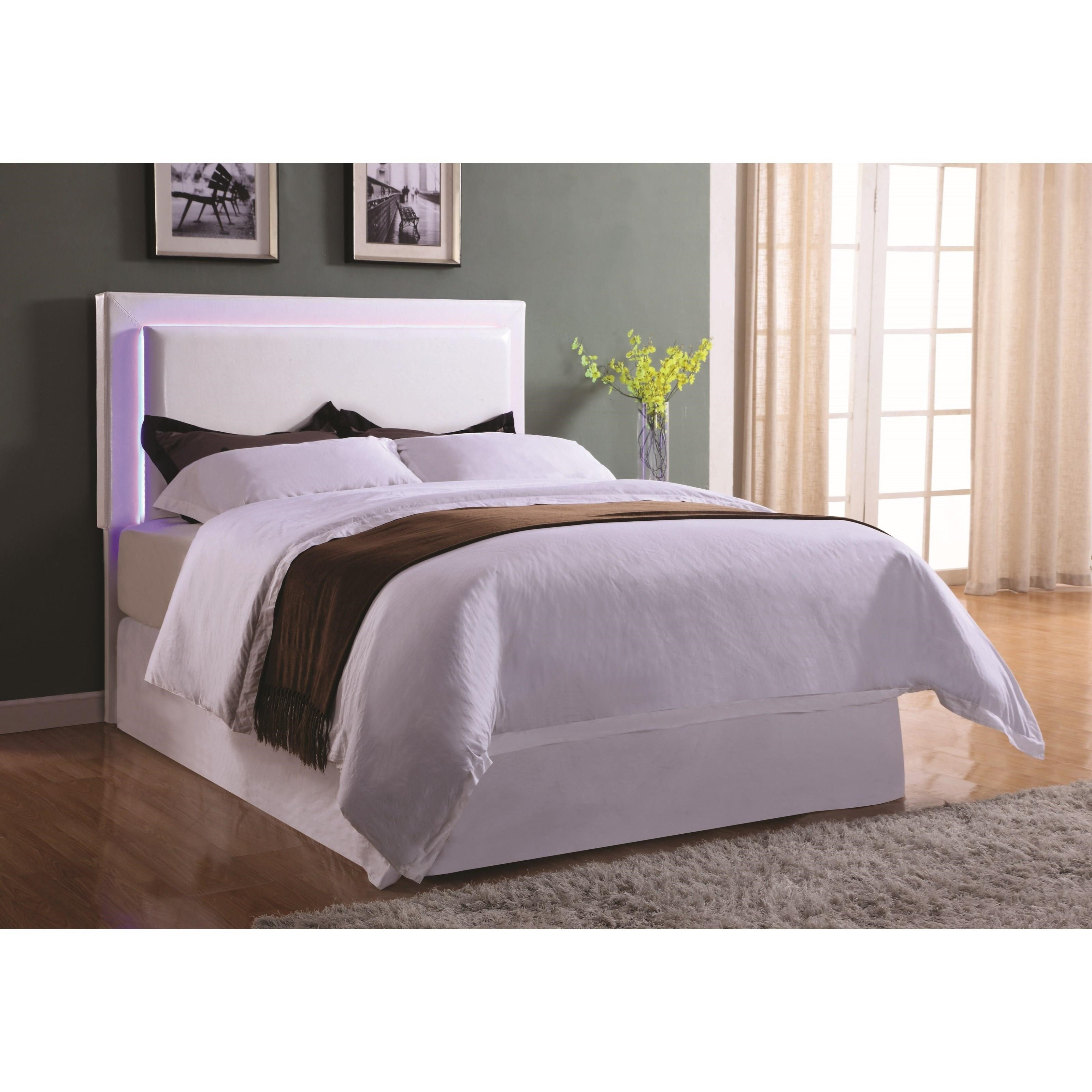 Coaster Upholstered Beds Q/F Led Headboard - Item Number: 300603QF