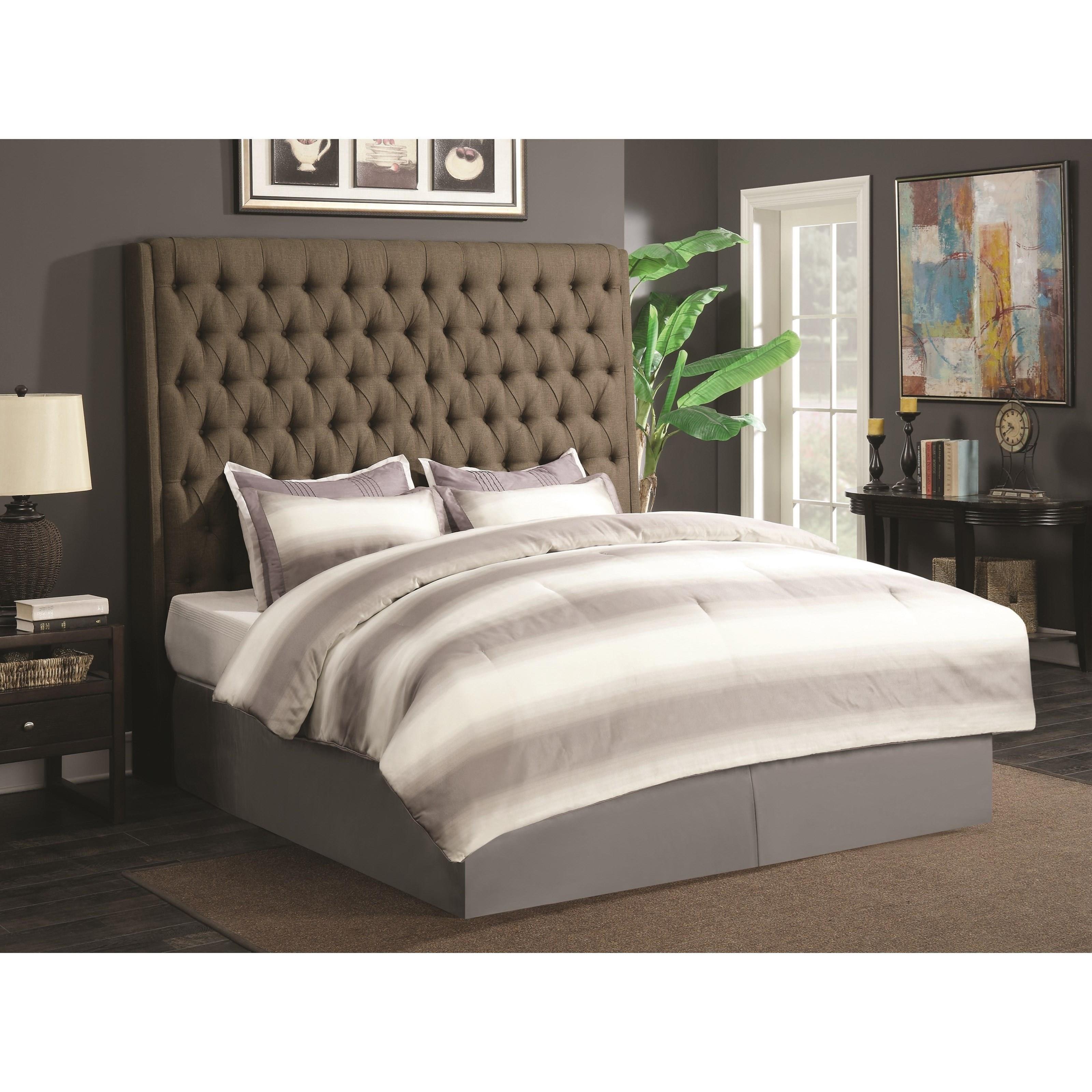 Coaster Upholstered Beds Cal King Headboard - Item Number: 300721KWB1