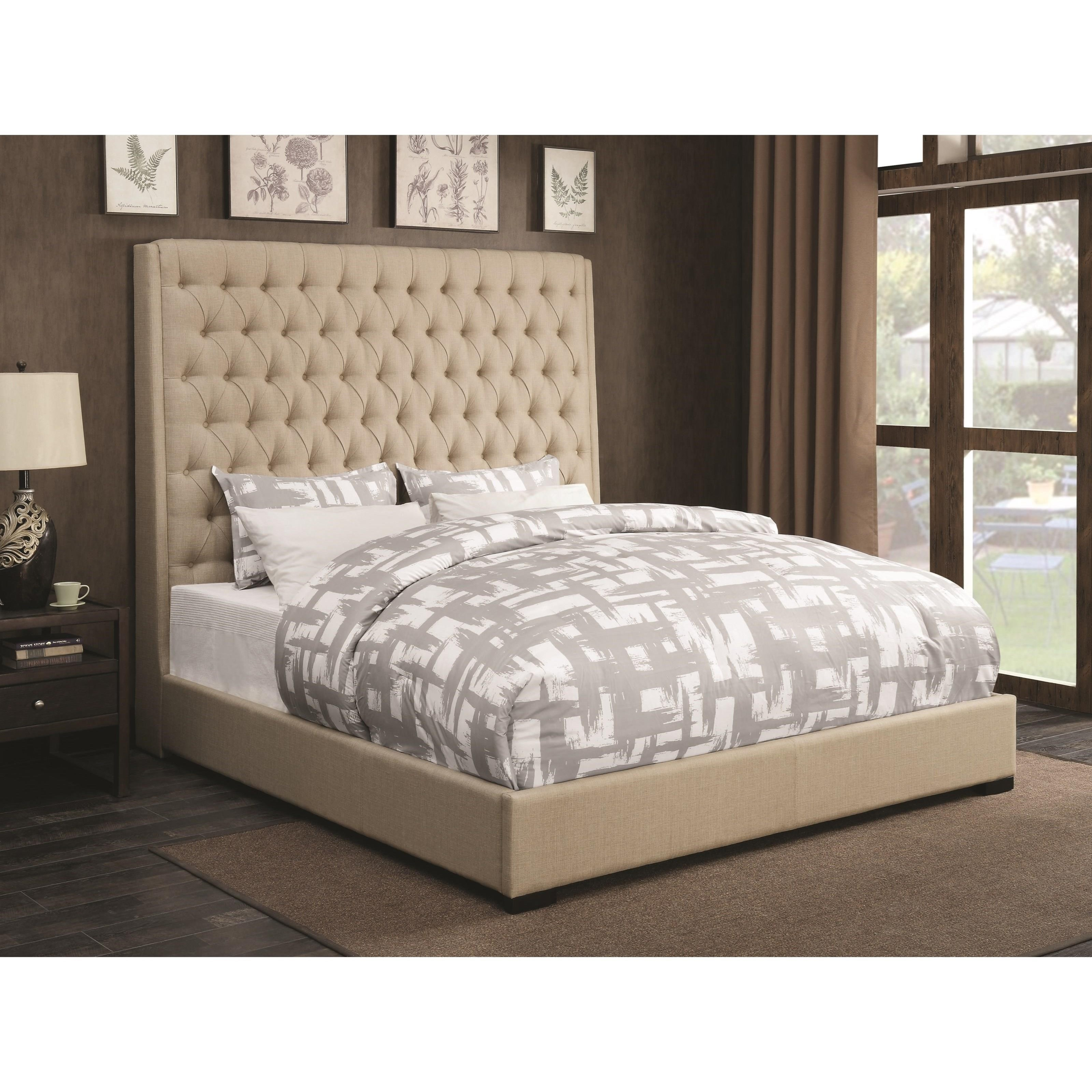 Coaster Upholstered Beds Cal King Bed - Item Number: 300722KW