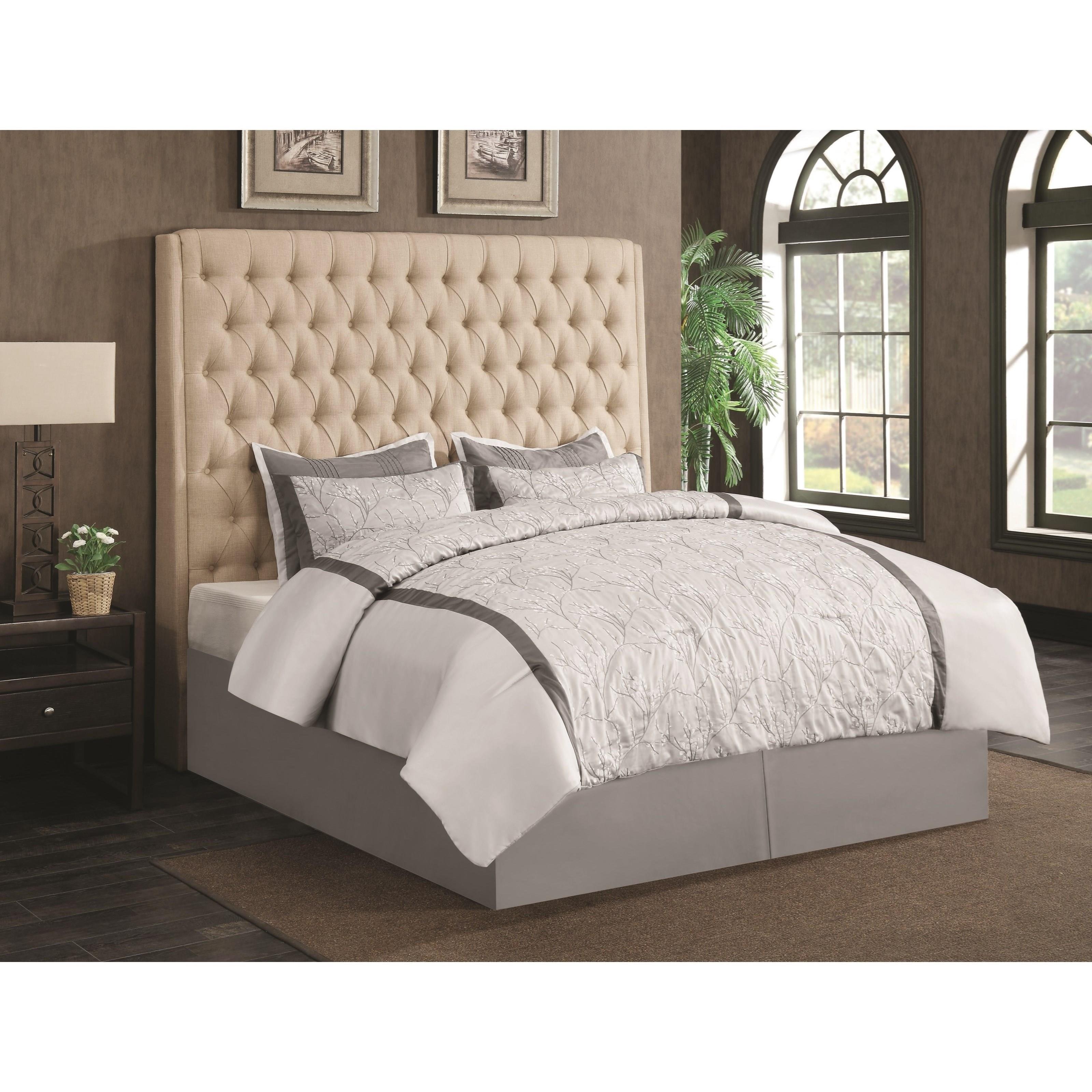 Coaster Upholstered Beds Cal King Headboard - Item Number: 300722KWB1
