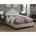 Coaster Upholstered Beds Upholstered Queen Bed with Scalloped Headboard