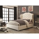 Coaster Upholstered Beds Wingback Upholstered California King Bed - Bed Shown May Not Represent Size Indicated