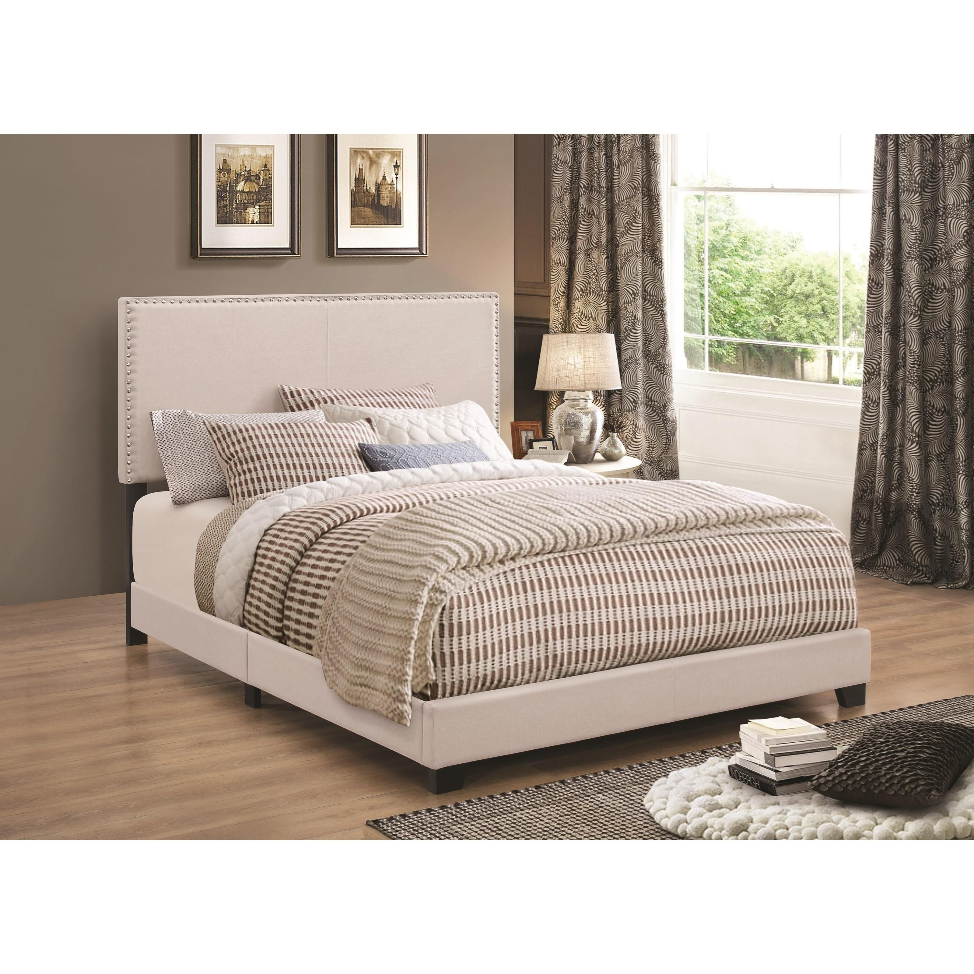 Coaster Upholstered Beds Cal King Bed - Item Number: 350051KW