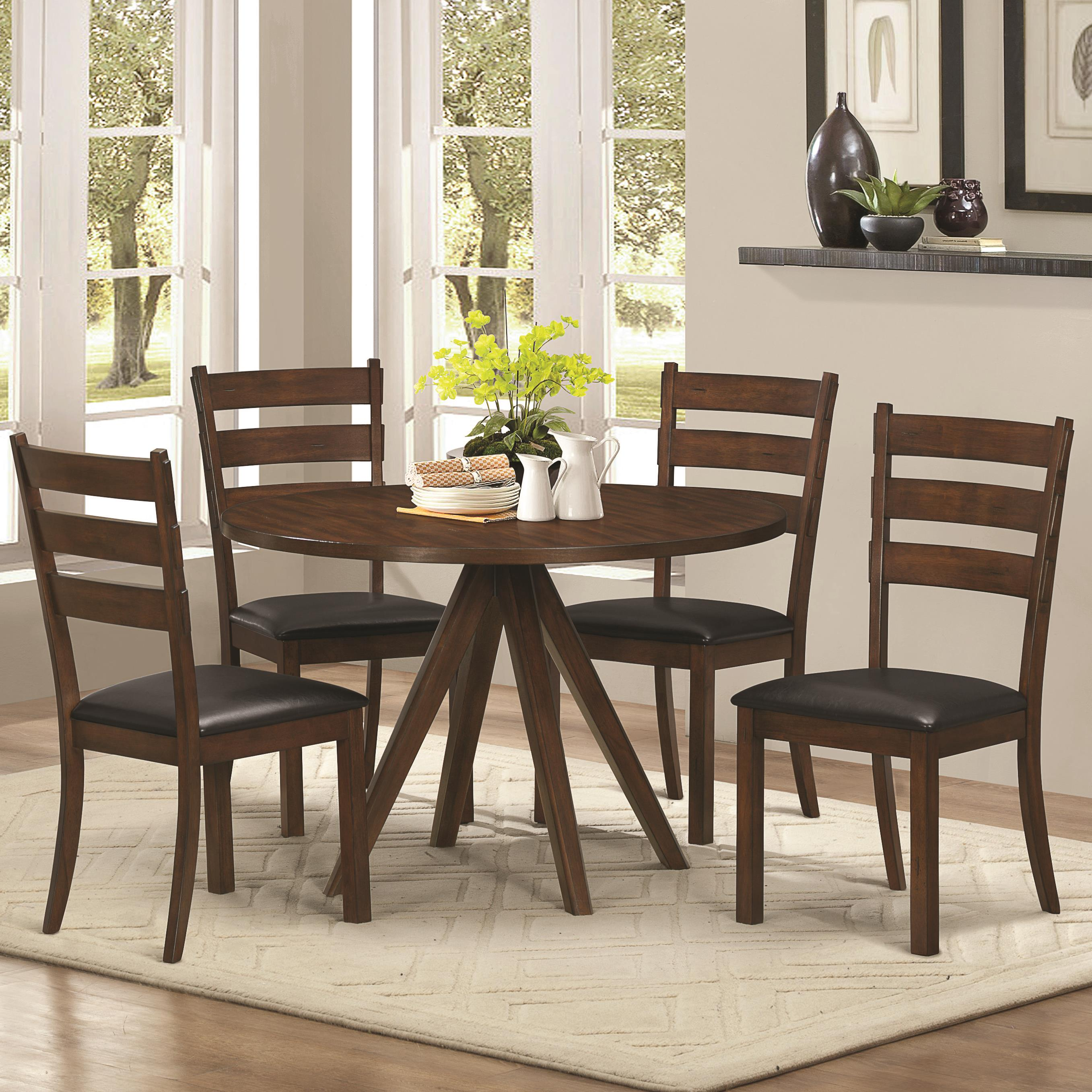 Coaster Urbana 5 Piece Table & Chair Set - Item Number: 105340+4x105342
