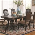 Coaster Valentina Rectangular Dining Table with Extension Leaf