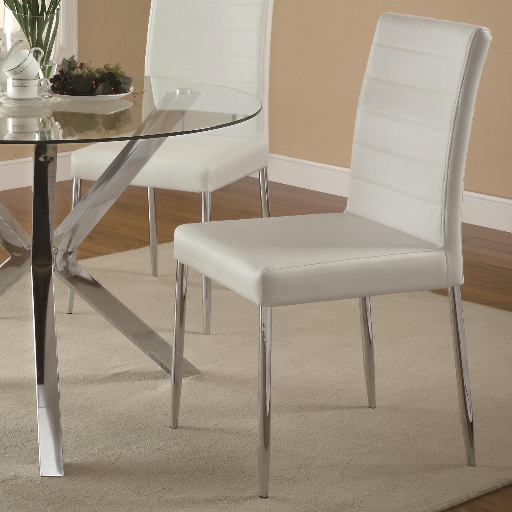 Coaster Vance Dining Chair - Item Number: 120767WHT