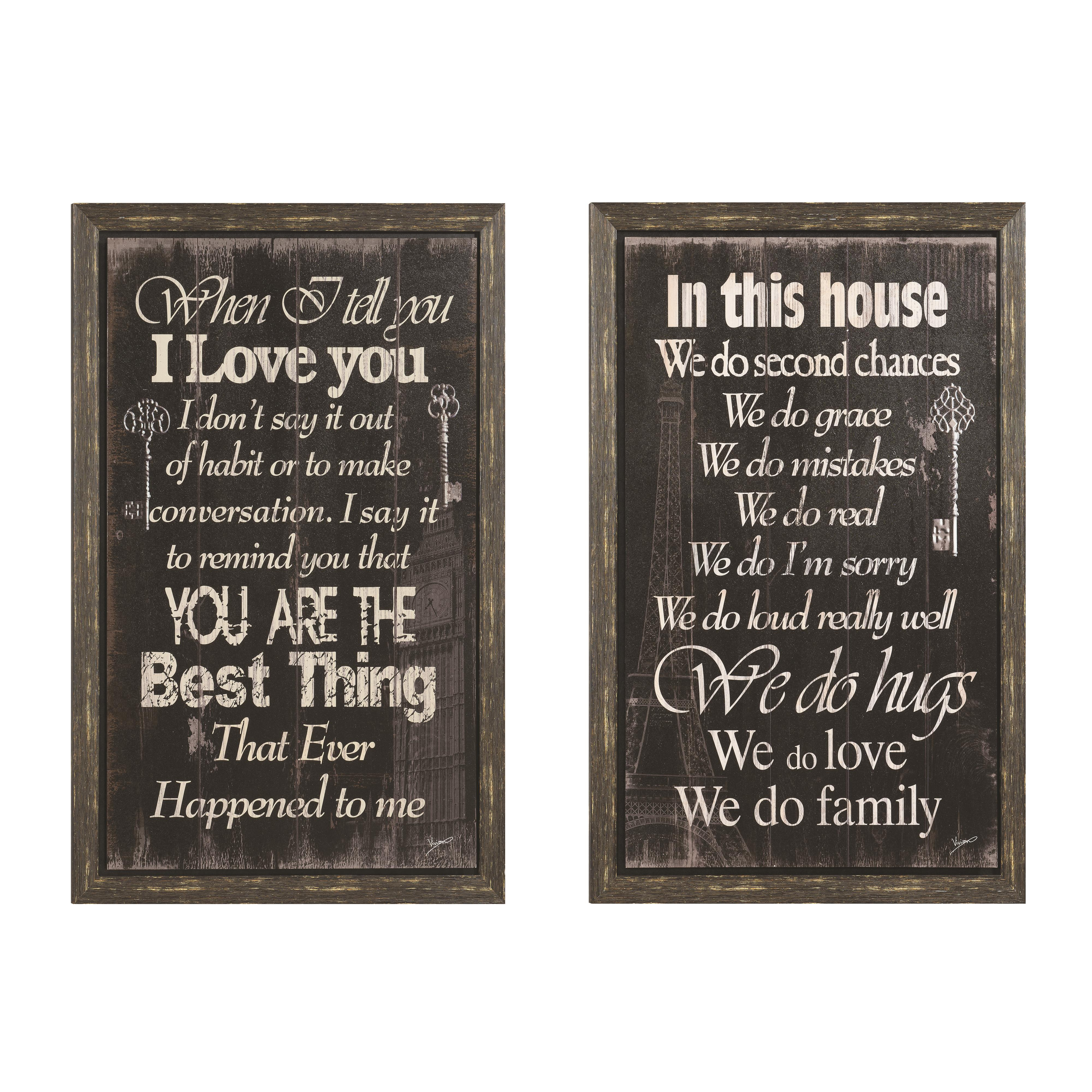Coaster Wall Art Inspirational Wall Art - Item Number: 960991