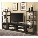 Coaster Entertainment Units TV Console & 2 Media Towers - Item Number: 700697+2x800355