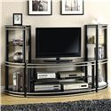Coaster Entertainment Units TV Stand & 2 Media Towers - Item Number: 700722+2x3