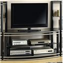 Coaster Entertainment Units Black & Silver Finish Curved TV Stand - 700722