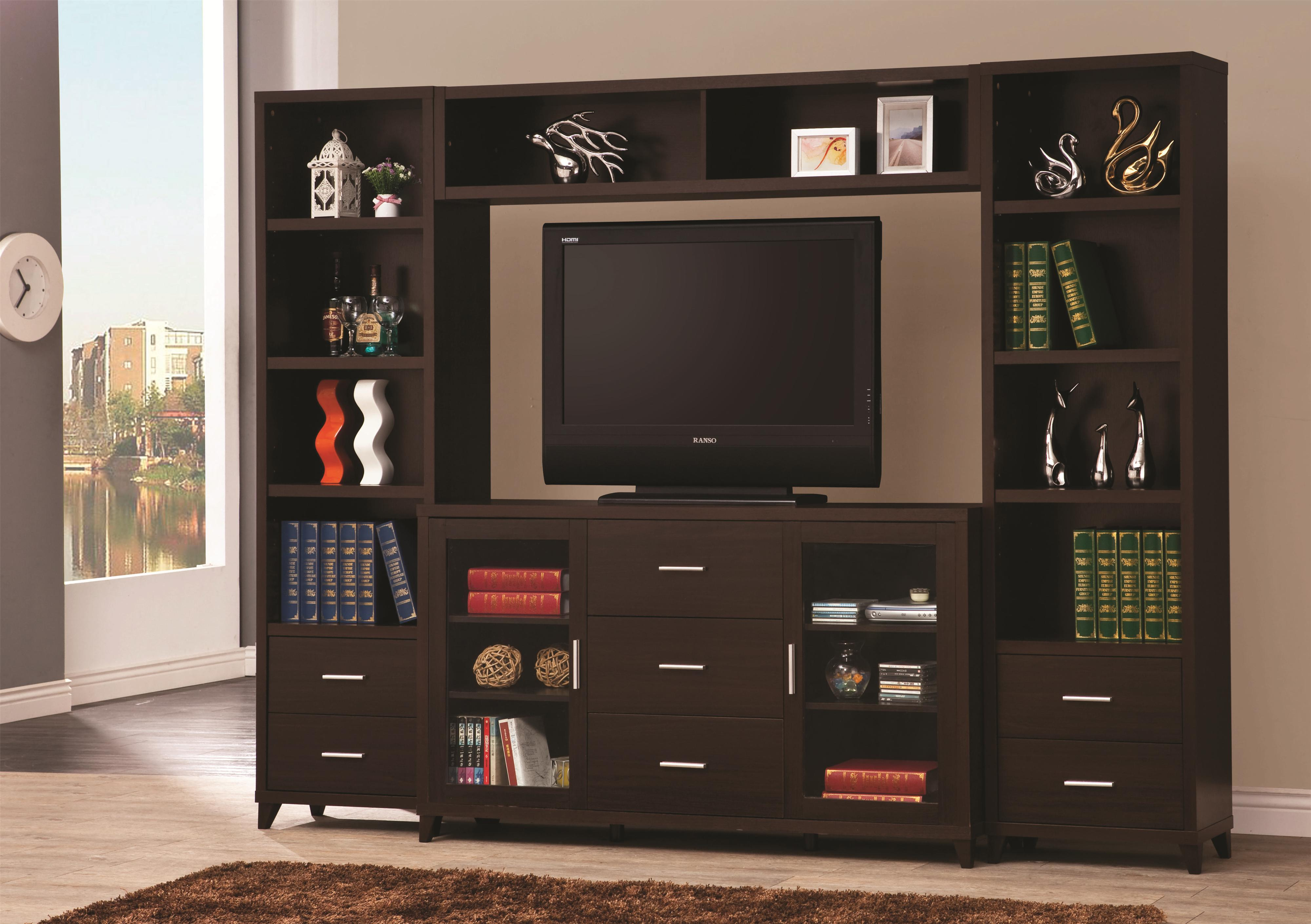 Coaster Entertainment Units Cappuccino Entertainment Wall Unit ...