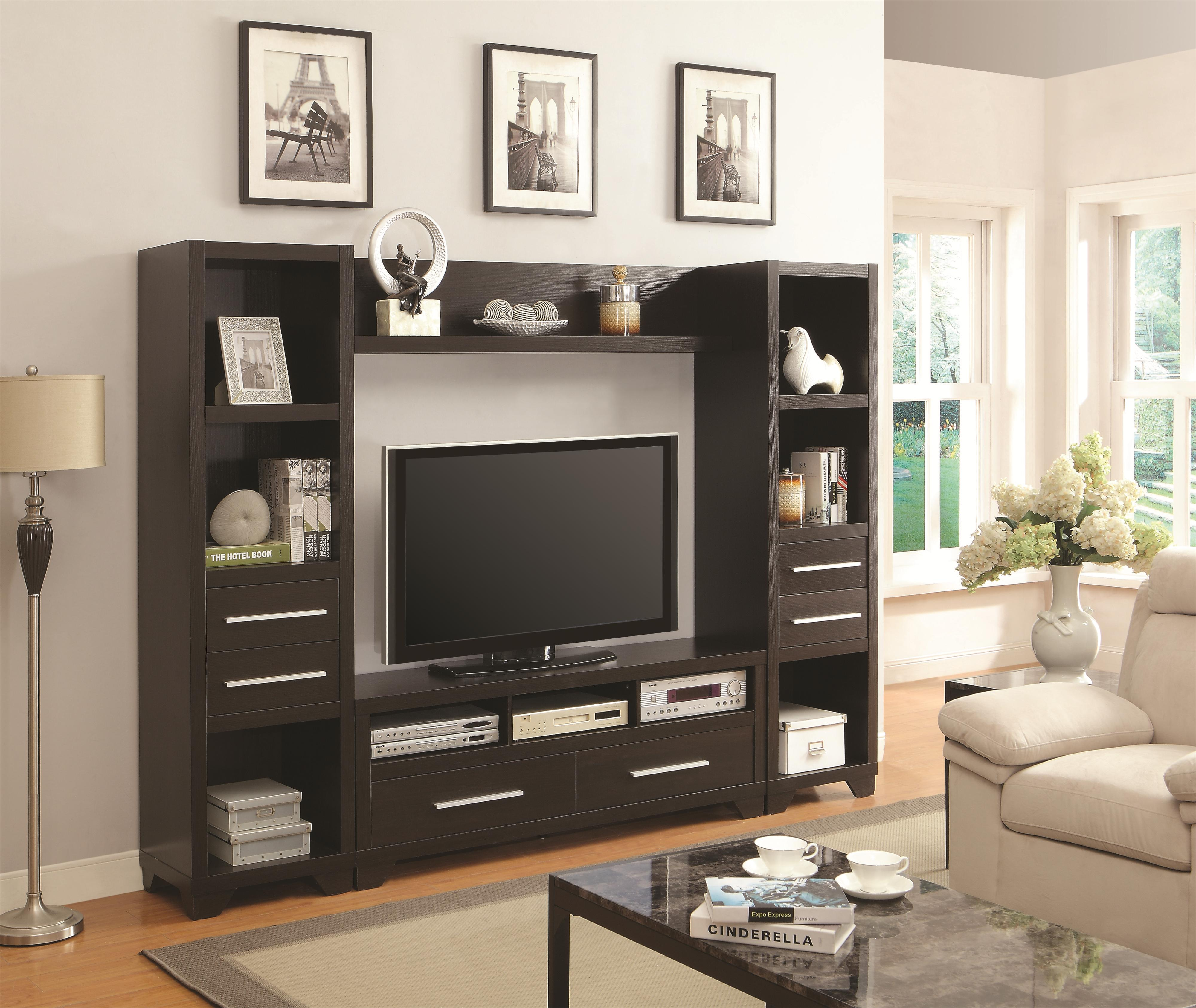 Coaster Entertainment Units Entertainment Wall Unit - Item Number: 703301+2x703302+703303
