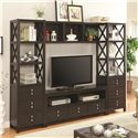 Coaster Entertainment Units Entertainment Wall Unit - Item Number: 703311+703312+703313