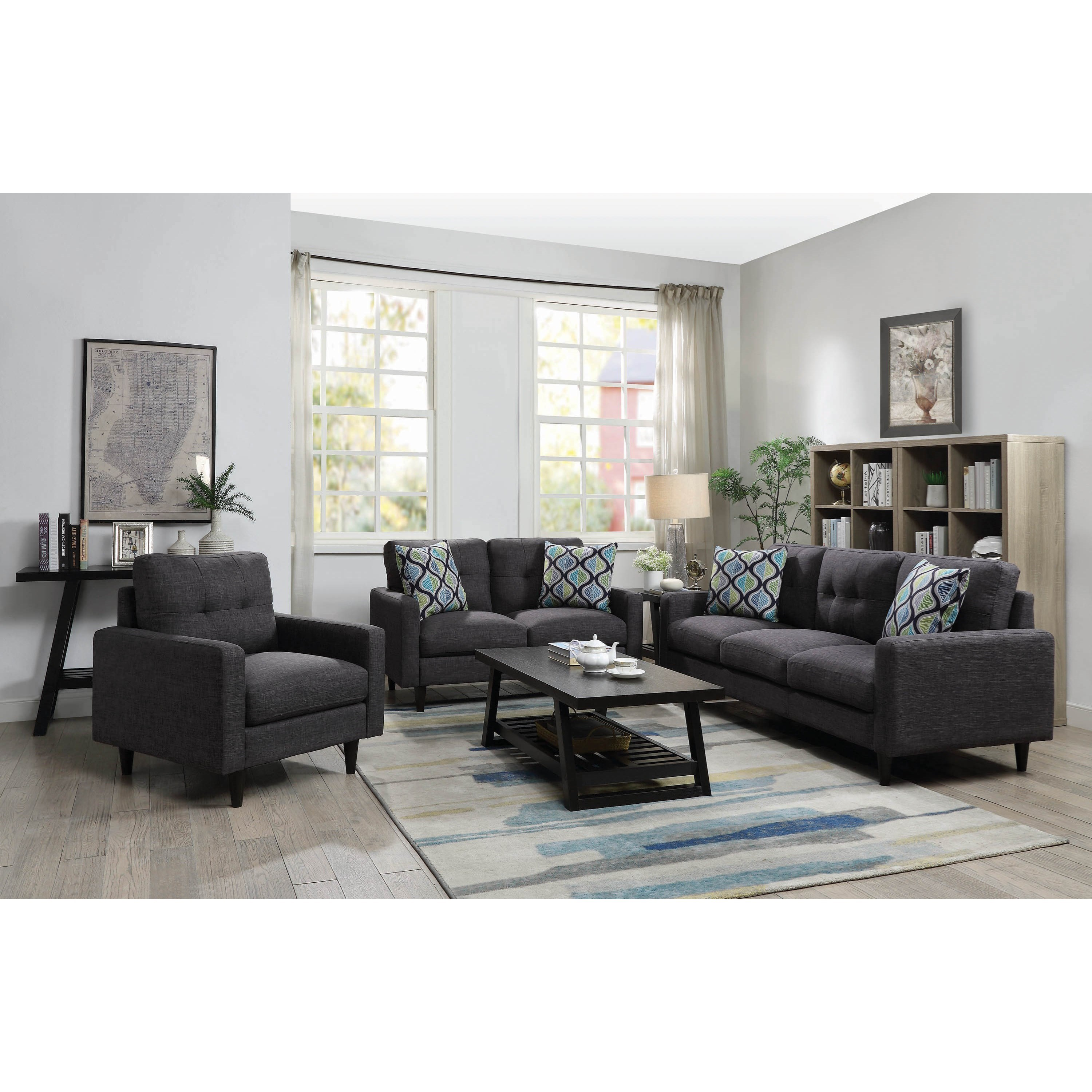 modern apartment sized furniture | Coaster Watsonville Mid Century Modern Apartment Size Sofa ...