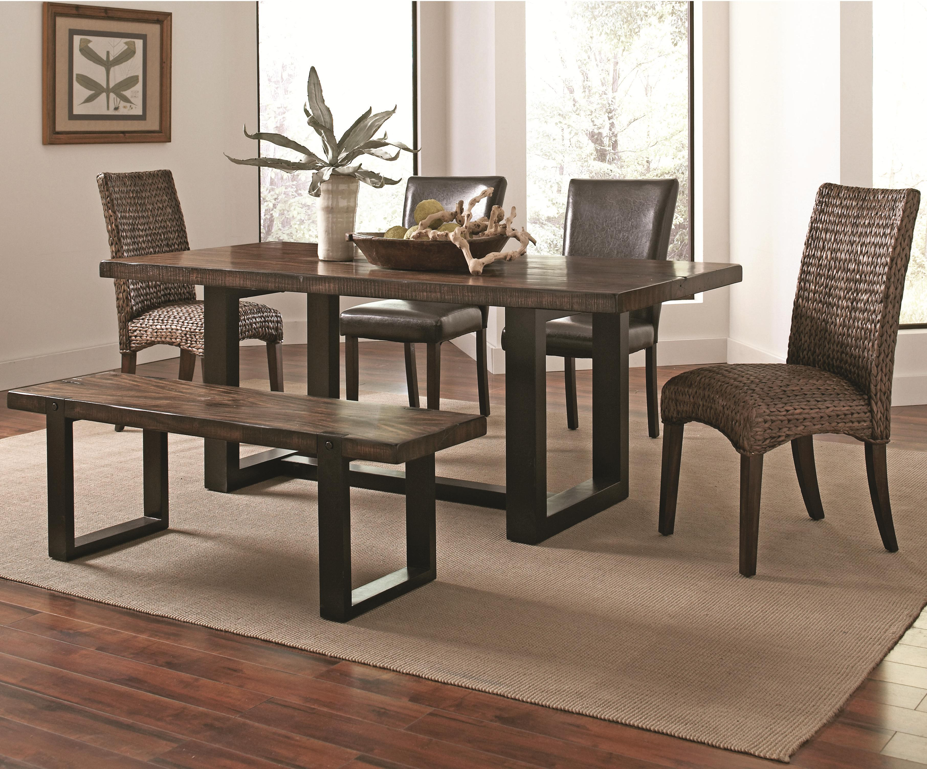 Coaster Westbrook Dining Casual Rustic 6 Piece Mix-and-Match ...