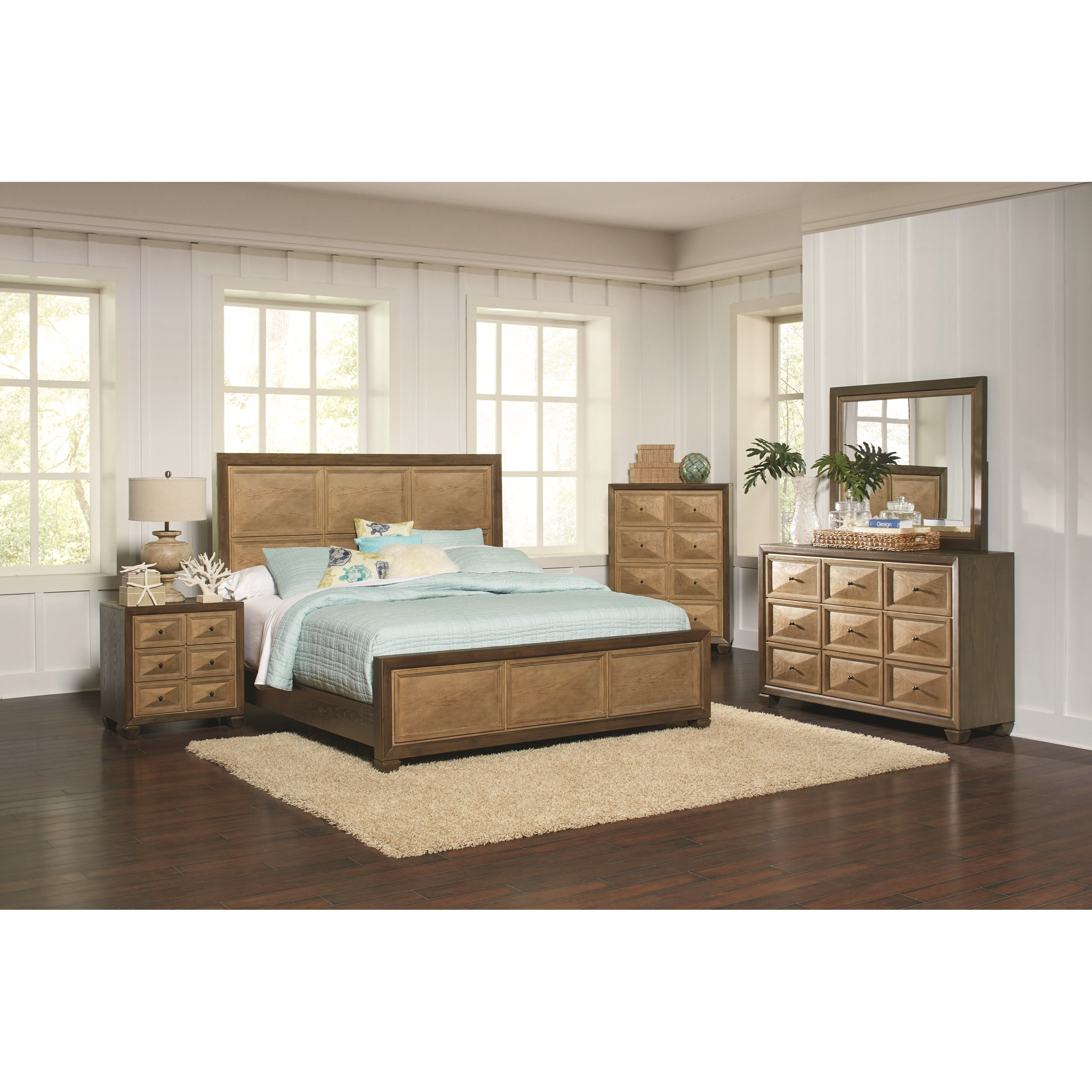 Coaster Wheatland King Bedroom Group - Item Number: 204600 K Bedroom Group 1