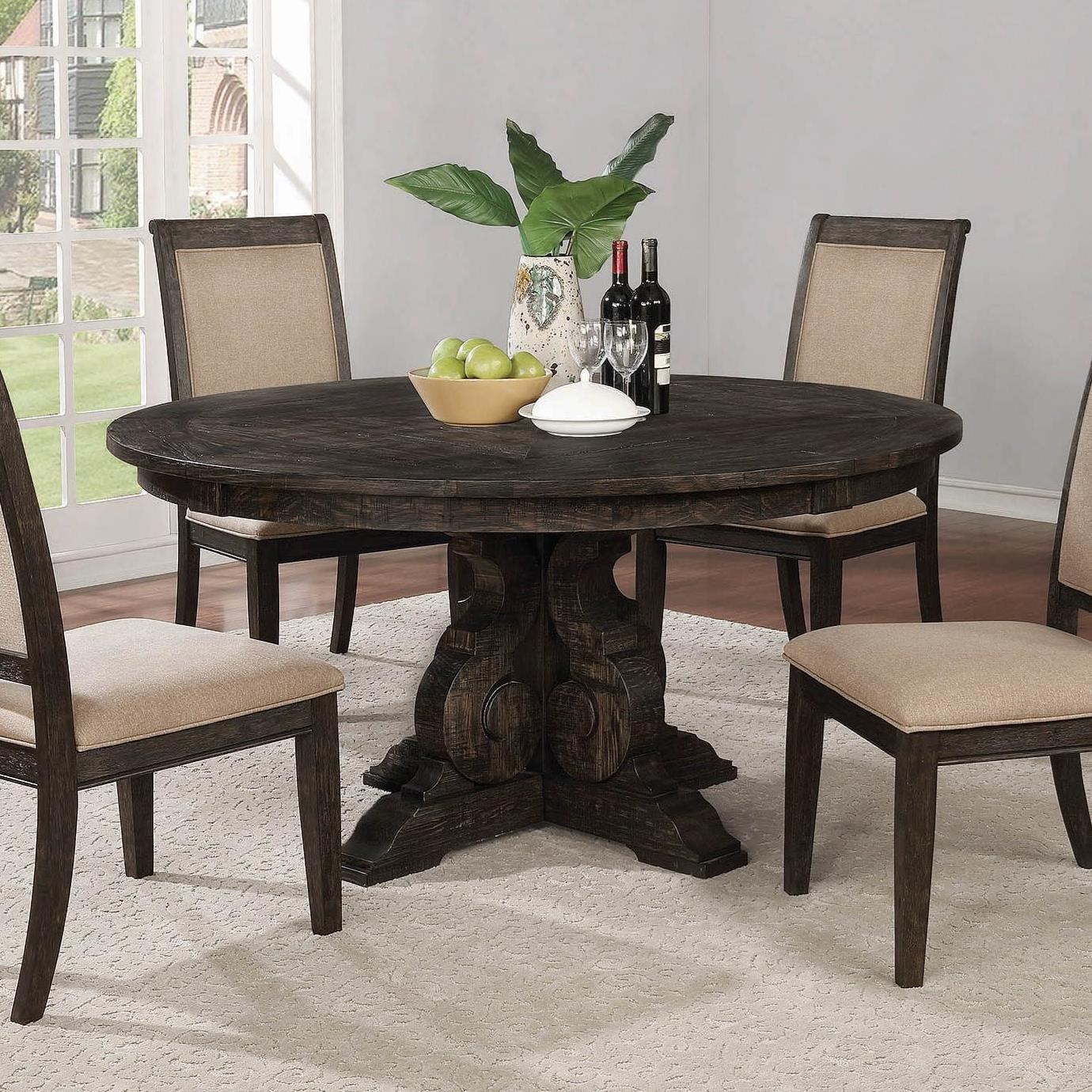 Coaster 101032 Tabitha Traditional Dining Side Chair: Fine Furniture Whitney 121280 Traditional Round Dining