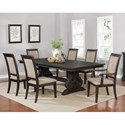 Coaster Whitney 7 Piece Table and Chair Set - Item Number: 121281+2x87+4x86