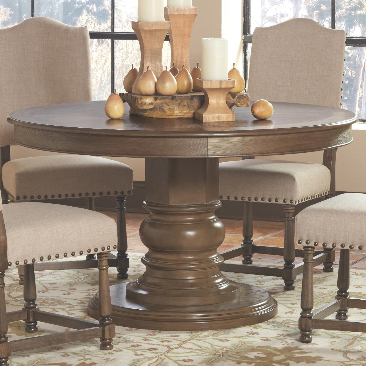 Coaster Willem Round Single Pedestal Dining Table Value City