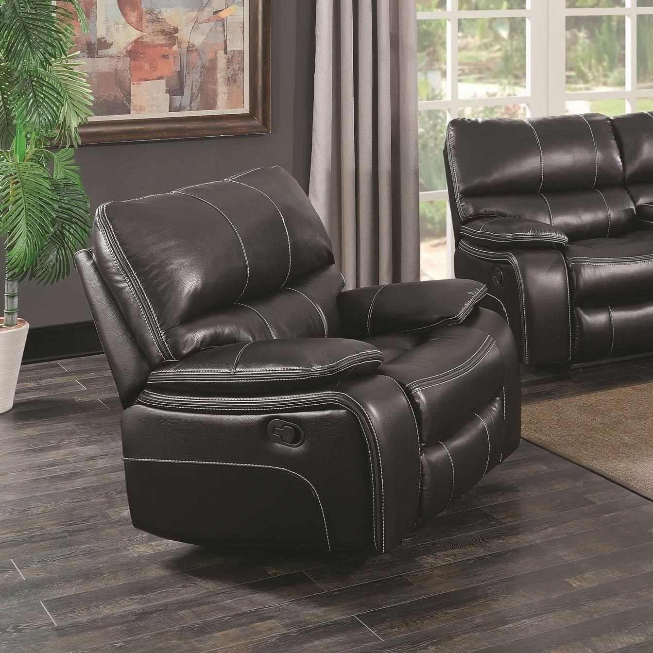 Coaster Willemse Casual Glider Recliner With Lumbar