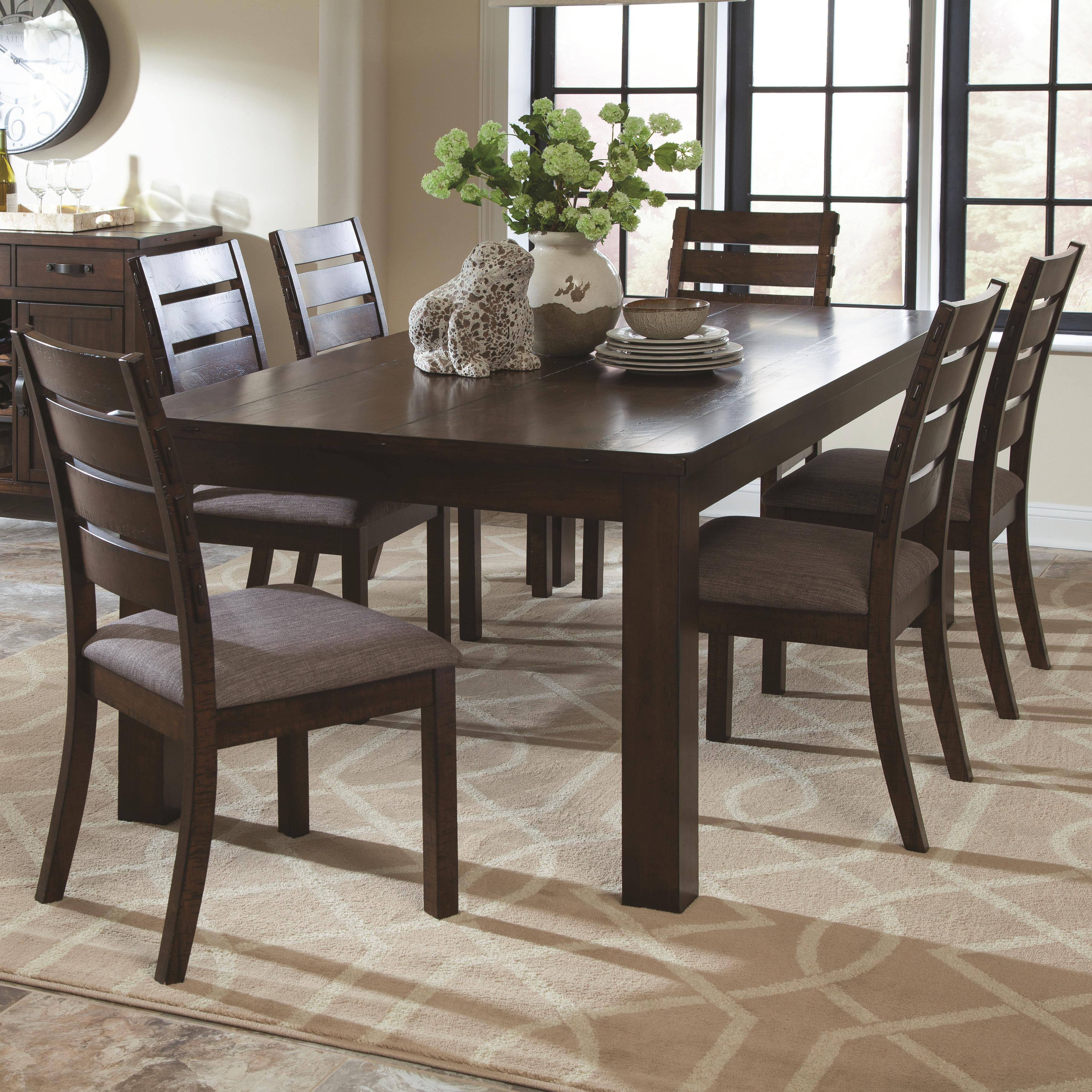 coaster wiltshire 7 piece rustic table and slat back chair set coaster wiltshire 7 piece table and chair set item number 106361 6x106362