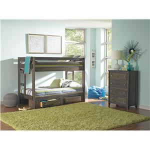 Coaster Wrangle Hill Twin over Twin Bedroom Group