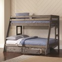 Coaster Wrangle Hill Twin Over Full Bunk Bed - Item Number: 400830+400832