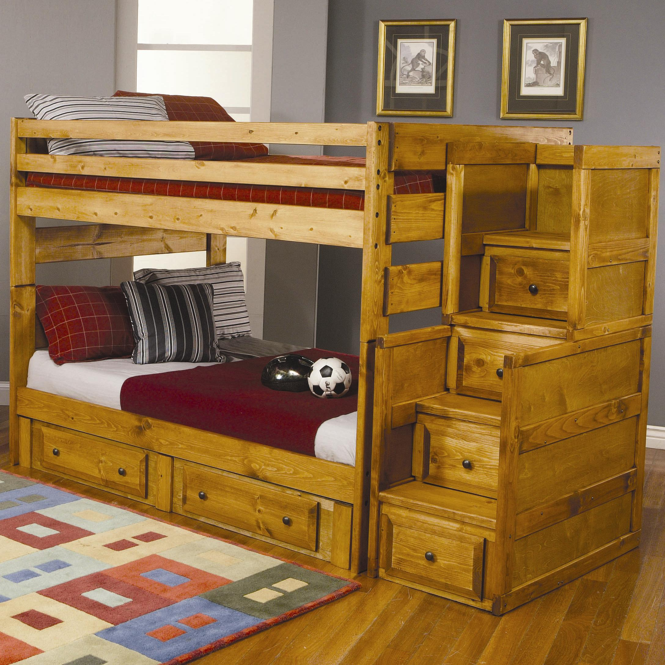 Coaster Wrangle Hill Full Over Full Bunk Bed With Under Bed Storage A1 Furniture Mattress Bunk Beds
