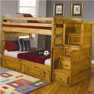 Coaster Wrangle Hill Full Over Full Bunk Bed with Under-Bed Storage