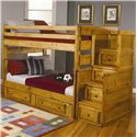 Coaster Wrangle Hill Full Over Full Bunk Bed with Under-Bed Storage - 460096+97+98