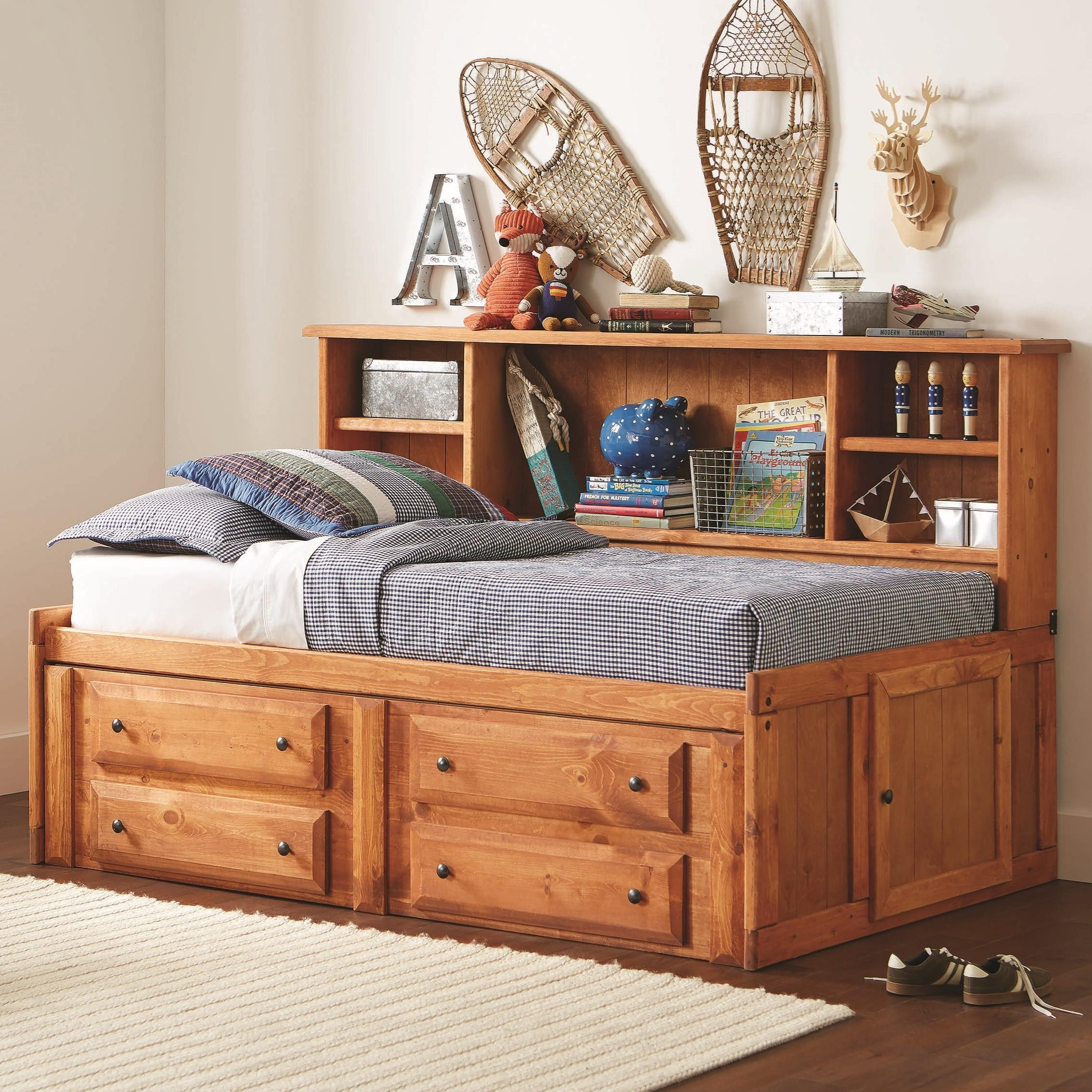 Coaster Wrangle Hill Twin Storage Daybed With Bookcase And