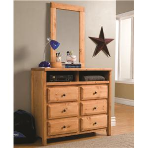 Coaster Wrangle Hill Dresser & Mirror