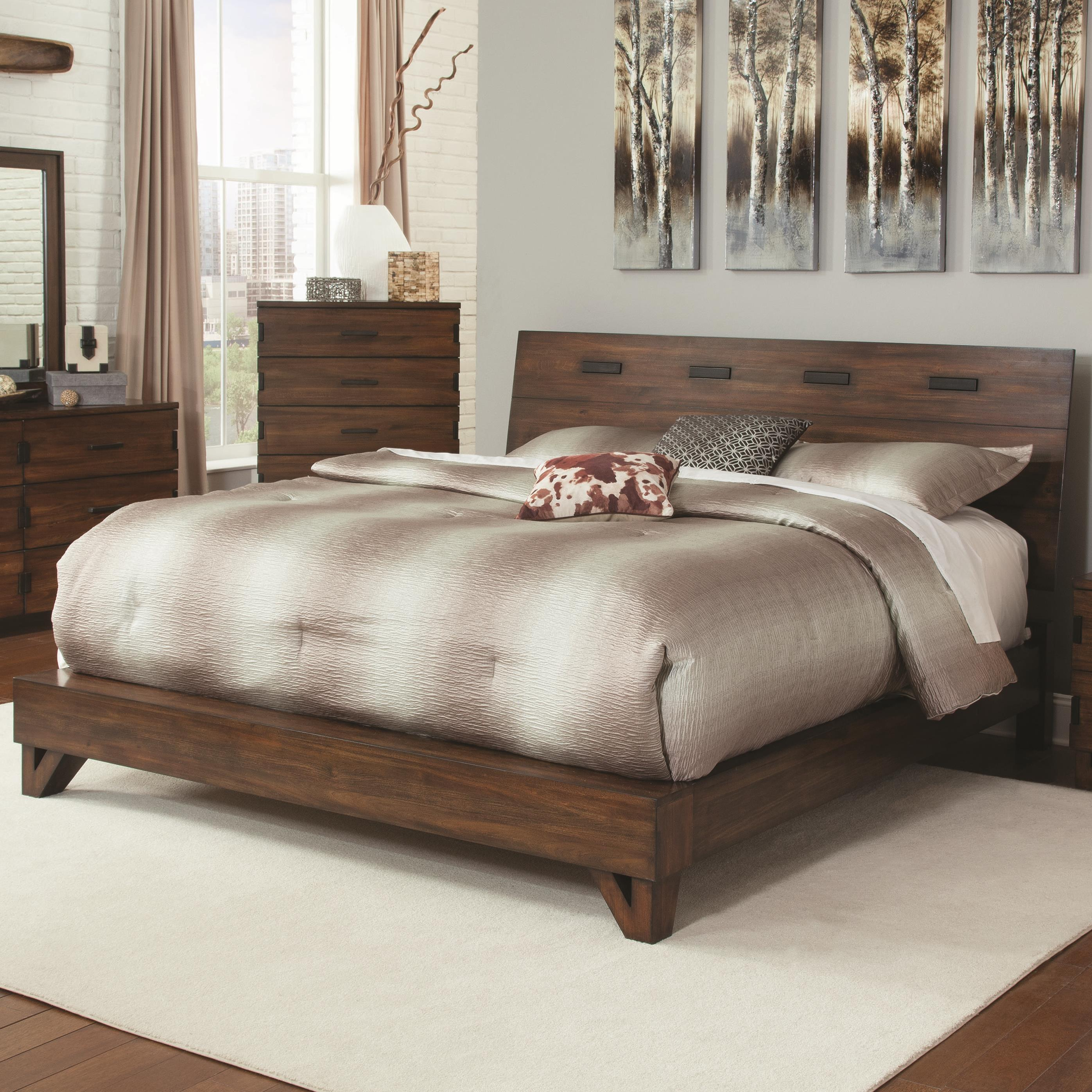 Coaster Yorkshire 204851Q Rustic Queen Bed With