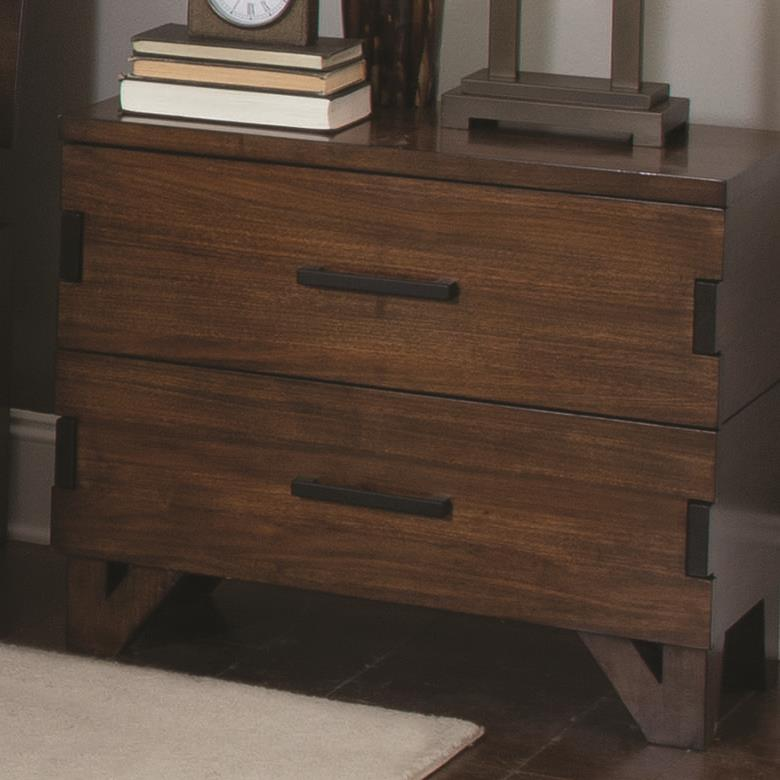 Yorkshire Rustic Bedroom Set: Coaster Yorkshire 204852 Nightstand With Charging Access